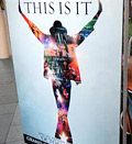 Caption: Poster for Michael Jackson's 'This Is It'; Credit: © Mark Ralson/AFP/Getty Images