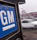 GM logo; Credit: (© Scott Olson/Getty Images)
