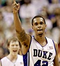 Duke's Lance Thomas celebrates (© Gerry Broome/AP)