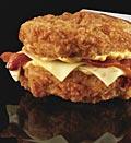 KFC's 'Double Down' sandwich. Credit: (© Dan Kremer/KFC)