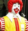 Caption: Ronald McDonald mannequin, Credit: (© Greg Baker/AP)
