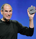 Credit: Apple CEO Steve Jobs displays the new AppleTV at news conference in San Francisco, Wednesday, Sept. 1, 2010  (© Paul Sakuma/AP)