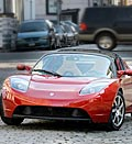 Credit: ( Craig Ruttle/AP)&#xA;Caption: Tesla Roadster electric car