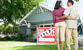 First-time homebuyers made up more than 45% of home sales in the past year, according to the National Assocation of Realtors. (© Jupiterimages/Getty Images)