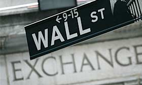 Wall Street sign (© Mark Lennihan/AP)