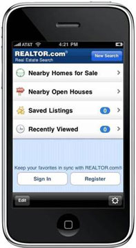 A new iPhone application from Realtor.com allows people to search for homes while they're on the go. ( Realtor.com)