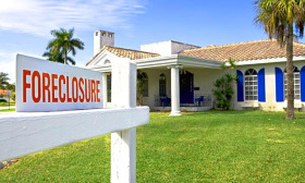 Foreclosure filings fell 10% from December to January, but still are up 15% from January 2009. (© Tetra Images/Superstock)