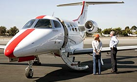 JetSuite's Phenom 100 jet will carry potential buyers to three Las Vegas foreclosures April 17. (Courtesy of JetSuite)