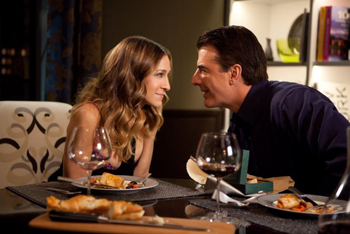 Sarah Jessica Parker and Chris Noth in 'Sex And the City 2,' Photo Courtesy Warner Bros.