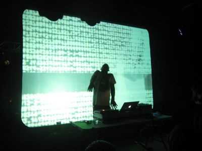 Flying Lotus, possessed by the spirit