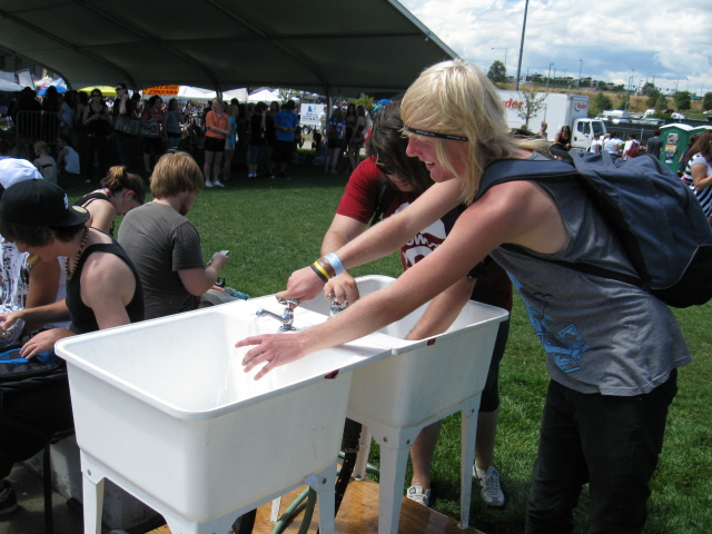 Water station at Warped